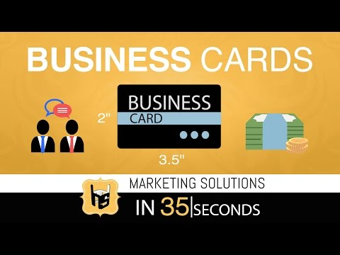 Marketing Solutions in 35 Seconds | Business Cards