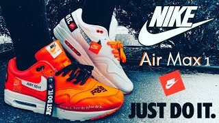 "Nike Air Max 1 SE ""Just Do It"" (Orange & White) Review + Epic On Foot"