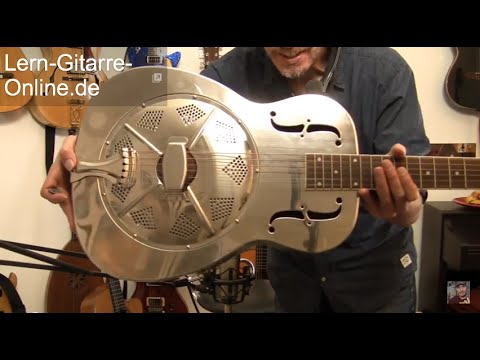 Mein neues Gitarrenbaby Paramount Sylke 0 Nickel Resonator Gitarre, Dobro, Bottleneck Workshop