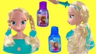 Disney Frozen Elsa Styling Head Color Change Bath Paint Hair