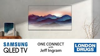 Samsung QLED TV:  Clean Cable Solution