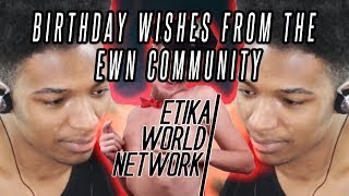 Etika Reacts to Birthday Videos from the Community [Stream Highlight]