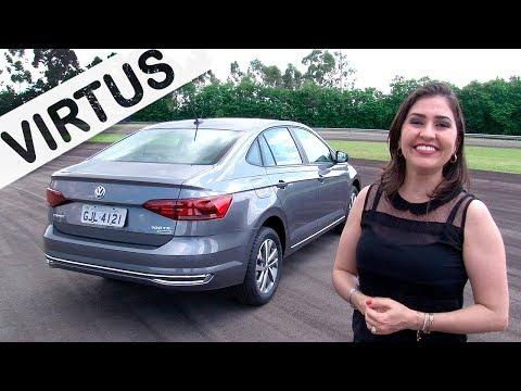 VW Virtus 2018 1.0 TSI Highline em Detalhes com Giu Brandão