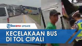 Detik-detik Peristiwa Tabrakan Bus Haryanto dan Bus Dedy Jaya di Tol Cipali, Sopir dan Kernet Tewas
