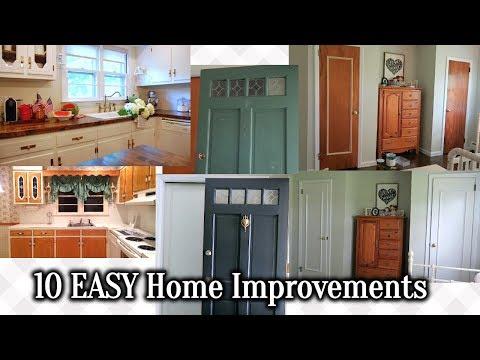 10 EASY + INEXPENSIVE HOME IMPROVEMENTS 🔨