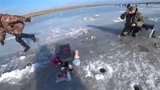 Хитрая зимняя ПЛОТВА и крупный ПЕСКАРЬ.Зимняя рыбалка 2018.
