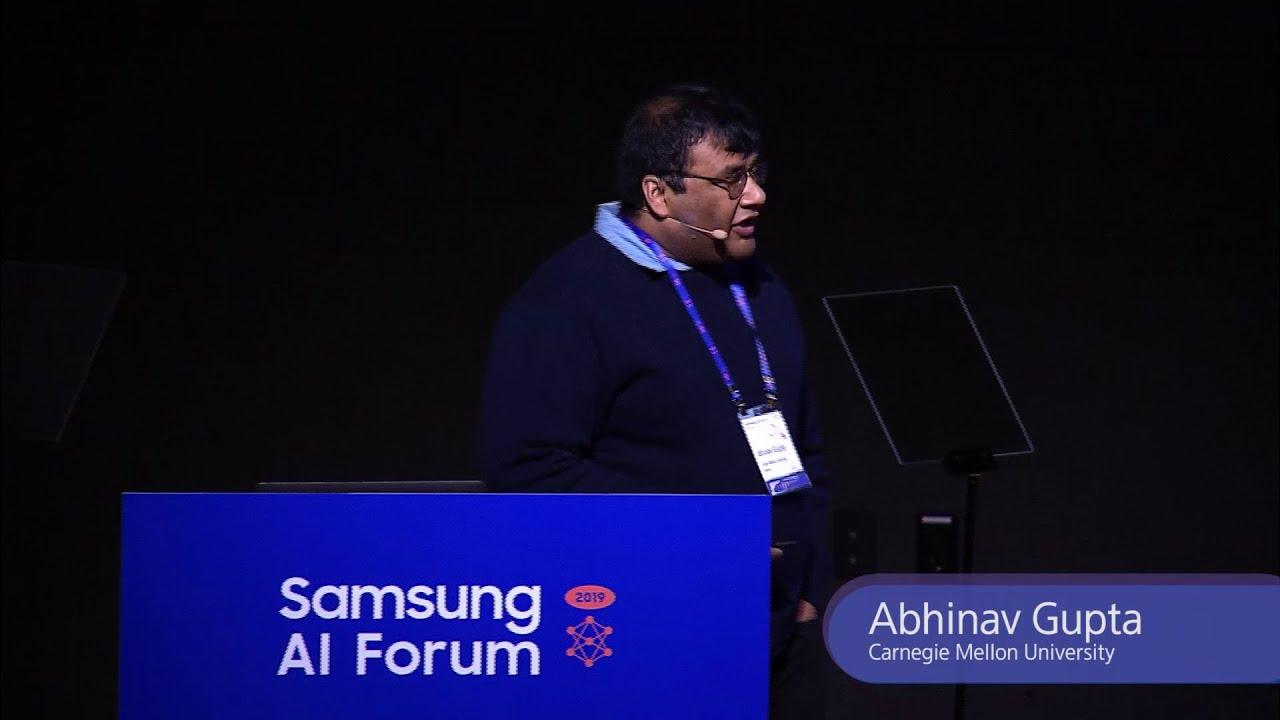 [SAIF 2019] Day 2: Supersizing and Empowering Visual and Robot Learning – Abhinav Gupta│Samsung thumbnail