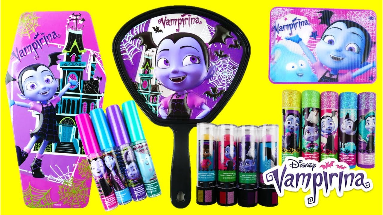 Disney Vampirina Makeup and Cosmetics Sets Lip gloss Lip Balm and Mirror