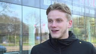 eSporter Thomas de Zeeuw voor en na de wedstrijd tegen Feyenoord