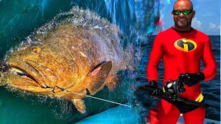 Incredible's Mr. Incredible Fishing Big Fish Super Hero Style! 2 Cosplay Ft Chew On This
