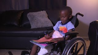 Boy leaves hospital in wheelchair after hit-and-run crash
