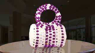 ঢোল ব্যাগ/New design beaded bag/How to make beaded bag/নতুন ডিজাইনের পুতির ব্যাগ