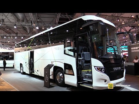 2019 Scania Touring HD 49-Seat Coach - Exterior and Interior Walkaround -  2019 IAA Hannover - TruckTube