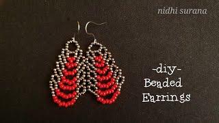⚜️ Trendy Seed Bead Earrings    Aretes Tutorial DIY (0375)