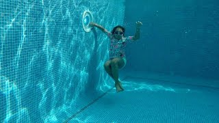 TIANA'S SWIMMING LESSONS DEEP UNDERWATER!! - Video Youtube