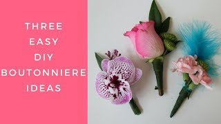 How To Make A Boutonniere - 3 Easy Designs