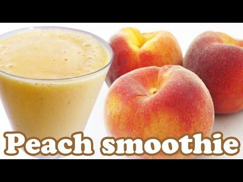 Video How To Make Peach Smoothie Recipe - Peaches Fruit Smoothies Recipes - Healthy Milkshake Shakes Foods