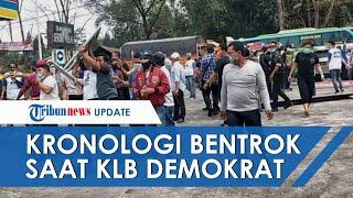 Kronologi Bentrok saat KLB Demokrat, Massa Berkaus Moeldoko Serang Pendukung AHY