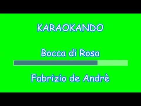 Karaoke Italiano - Bocca di Rosa - Fabrizio de Andrè - Pfm ( Testo )