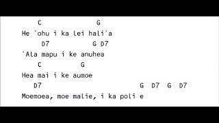 Lei Hali'a   Lyrics & Chords KeyG