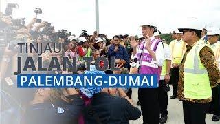 Presiden Jokowi Tinjau Ruas Tol Pekanbaru Dumai Seksi 1