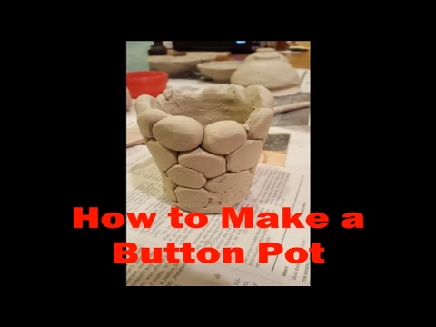 One of my favorite kid clay projects.  Making a button pot. simple easy and fun.