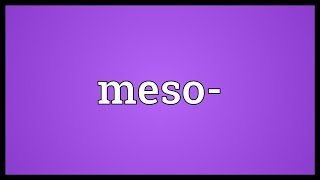 Meso- Meaning