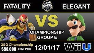 2GGC - YP | Fatality (Captain Falcon) Vs. BSD | Elegant (Luigi) Group E - Championship - dooclip.me