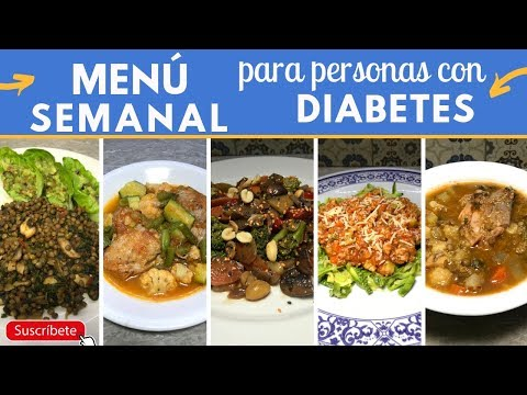 Menú semanal para DIABÉTICOS fácil y barato | Cocina de Addy