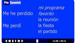 Today's Lesson  - Learn to Speak Spanish Course