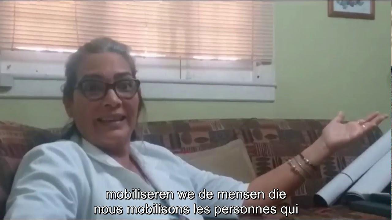 """Aissa Naranjo: """"De blokkade belet ons medische ventilatoren in de VS aan te kopen"""""""