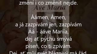 Ave Maria, Lucie Bílá, karaoke lyrics without vocals
