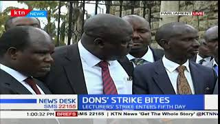 KNUT SG Wilson Sossion makes an address concerning the Don's strike