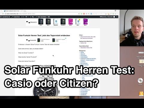 Solar Funkuhr Herren Test   Casio   Citizen  