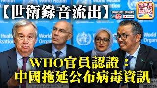 6.3 A2頭條【世衛錄音流出】WHO官員認證:中國拖延公布病毒資訊