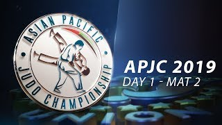 Asia-Pacific Judo Championships Seniors 2019 - Day1-Mat2