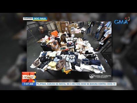 [GMA]  UB: Smuggled luxury car at high-end bags, kabilang sa mga nasamsam ng Bureau of Customs