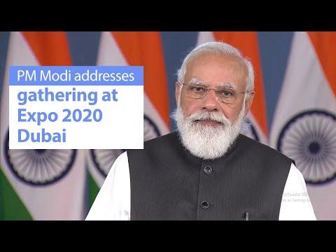 PM Modi addresses gathering at Expo 2020 Dubai   PMO