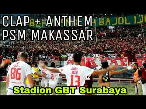 Seluruh Bonek DIAM.! Menghormati anthem PSM Makassar Usai Pertandingan di Stadion GBT Surabaya