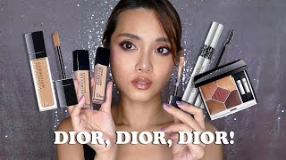 Dior Forever Skin Correct Review & Diorshow 2020 Makeup Try-On: 689 Mitzah + Glitter Black Mascara