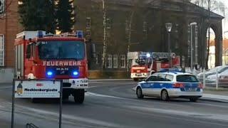 preview picture of video '[Kleine Rundfahrt] HLF 20/16 + DLK 23/12 FW Oranienburg LZ1'