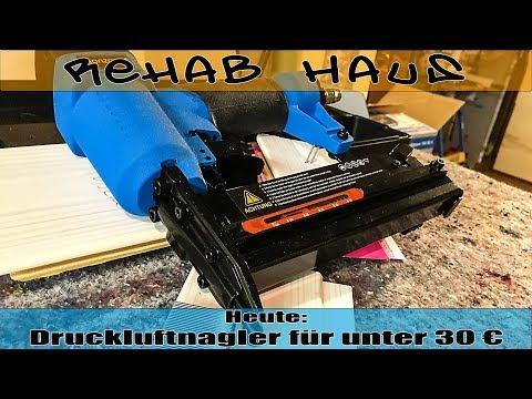 Monzana - Druckluftnagler / Drucklufttacker 15-50mm für unter 30 € | Rehab Haus