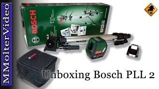 Bosch PLL 2 Kreuzlaser Unboxing