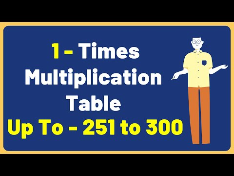 1 Times Multiplication Table up to 251 to 300 | Multiplication Time Table with Audio