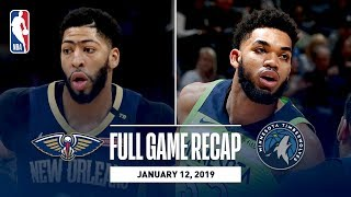 Full Game Recap: Pelicans vs Timberwolves | Karl-Anthony Towns Grabs Career-High 27 Rebounds