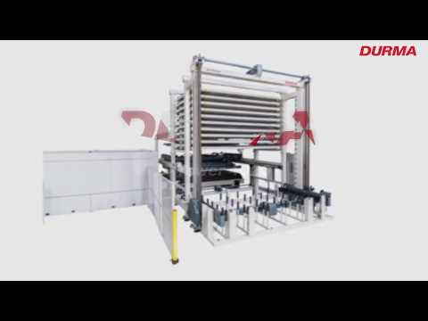 Fiber laser se systémem pro automatický výběr, zakládání a odběr plechu