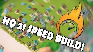 HQ 21 SPEED BUILD - What Do You Think? | Boom Beach