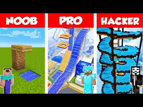 Minecraft NOOB vs PRO vs HACKER: WATERPARK CHALLENGE in Minecraft / Animation