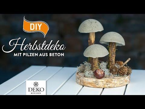 DIY: Coole Herbstdeko Mit Pilzen Aus Beton [How To] Deko Kitchen