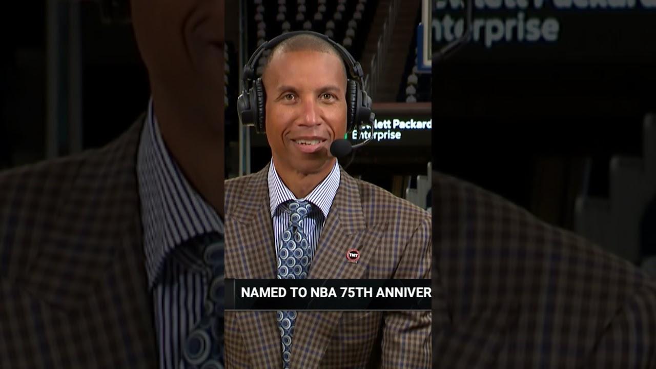 Reggie Miller Reaction Making #NBA75 Team 😂 | #Shorts
